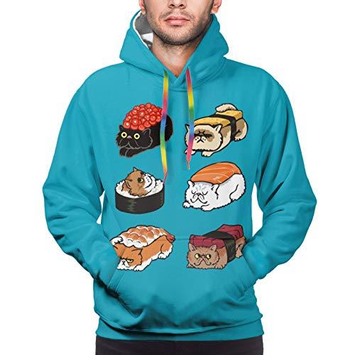 Sudadera con capucha para hombre, diseño de gato persa, con