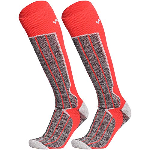 Men Ski Socks 2 Pairs Pack for Skiing,Hiking Snowboarding Winter Outdoor Socks Cold Weather