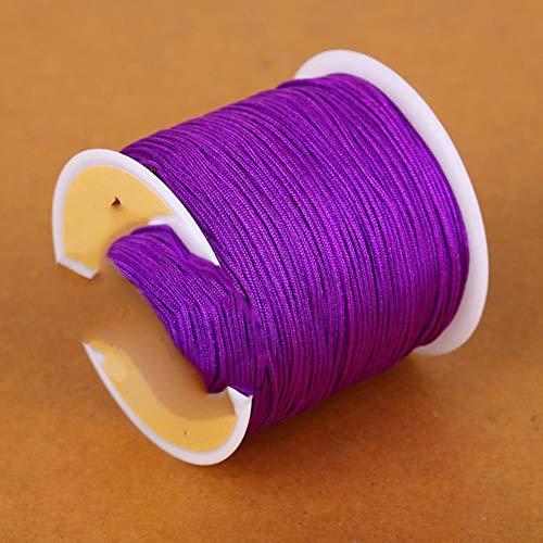 LLAAIT Dia 0.8mm 23 Colores 50m Hilo Nylon Cordón
