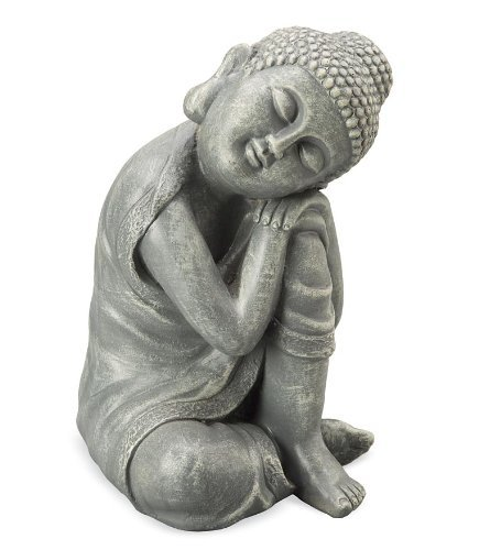 Resting Buddha Young Serene Indoor Outdoor Weather Resistant Statue 11.25' H