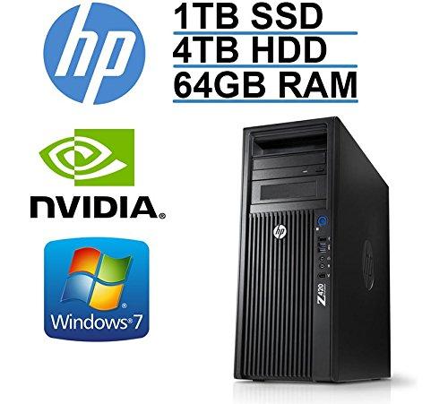 HP Z420 Workstation - 8 Core E5 2670 up to 3.3GHz CPU (20 MB Cache) - 64GB RAM- 1TB SSD + 4TB HD with 3 YR WNTY- USB 3.0 (Renewed).