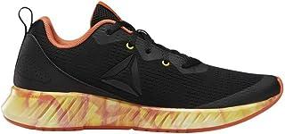 Reebok Baby Flashfilm Runner Running Shoe, Black/Orange/Yellow, 4.5 M US Toddler