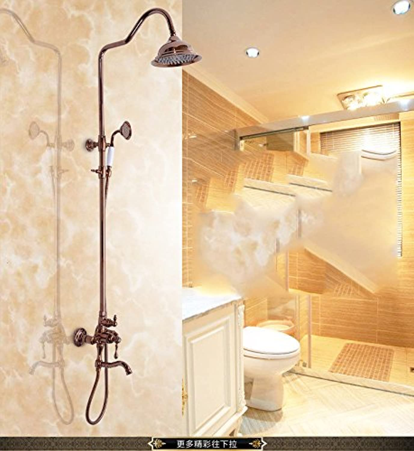 WVXgold full copper gold Plated shower head set European style shower set shower shower faucet