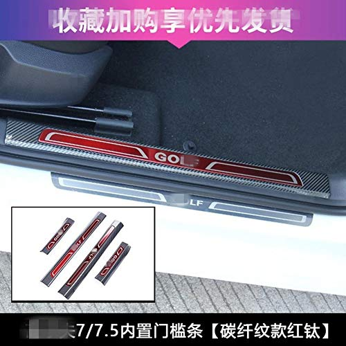 NA Willkommensschwelle Hochwertige 304 Edelstahl-Einstiegsleiste Willkommens-Pedal-Auto-Styling-Zubehör für Volkswagen Golf 7.5 Golf 7