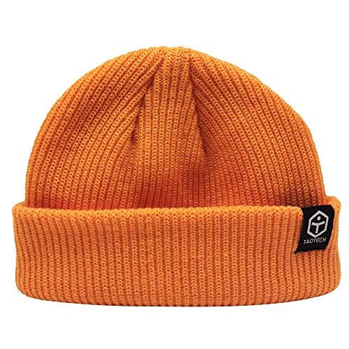 TaoTech ビーニー ニット帽 キャップ スノーボード スキー ニットワッチ 男女兼用 (オレンジ)