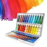 N\C Pintura acrílica Profesional de 12/24 Colores, Pintura de Dibujo para niños controlada de 15 ml, Suministros de Arte adecuados para Principiantes y Artistas para Pintar