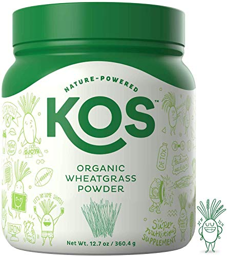 KOS Organic Wheatgrass Juice Powder | Chlorophyll Rich Premium Wheatgrass Juice Powder | USDA Organic, Cold-Pressed & Air Dried, Fiber Rich Plant Based Ingredient, 360.4g, 132 Servings