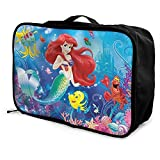 Mermaid Ariel - Maletín de viaje para equipaje con bolsa de viaje para llevar durante la noche