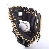 Guante de Béisbol Guantes de béisbol de dos capas Guantes de bateo Guantes de lanzamiento de niños juveniles Guantes de softball para Niños Jóvenes Adultos ( Color : Marrón , Size : 11.5 inch )