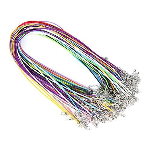 SUPVOX 20pcs Collar de Hilo Encerado Hilo de Collar con Cierre para Gargantilla Colgante de joyería