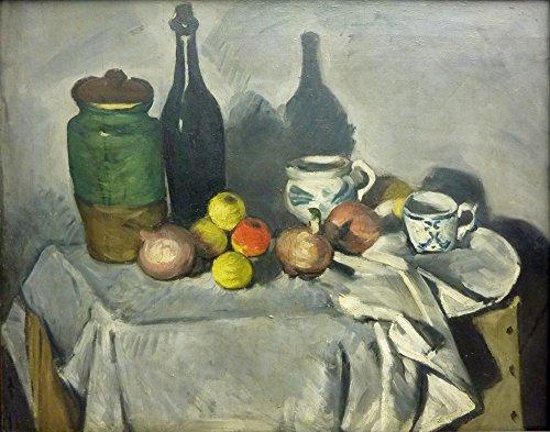 Het Museum Outlet - Stilleven met Fruit en Serviesgoed, 1869-71, Stretched Canvas Gallery verpakt. 16 x 20 cm.