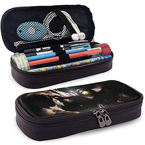 Okarina der Zeit Chefs PU Leder Federmäppchen Tasche Stationäre Tasche Aufbewahrungstasche Make-up Tasche 20 * 9 * 4 cm (8X3,5X1,5 Zoll)