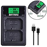 NP-FZ100 Battery Charger LCD Dual USB Charger Compatible with Sony A9 A7III A7RIII Cameras