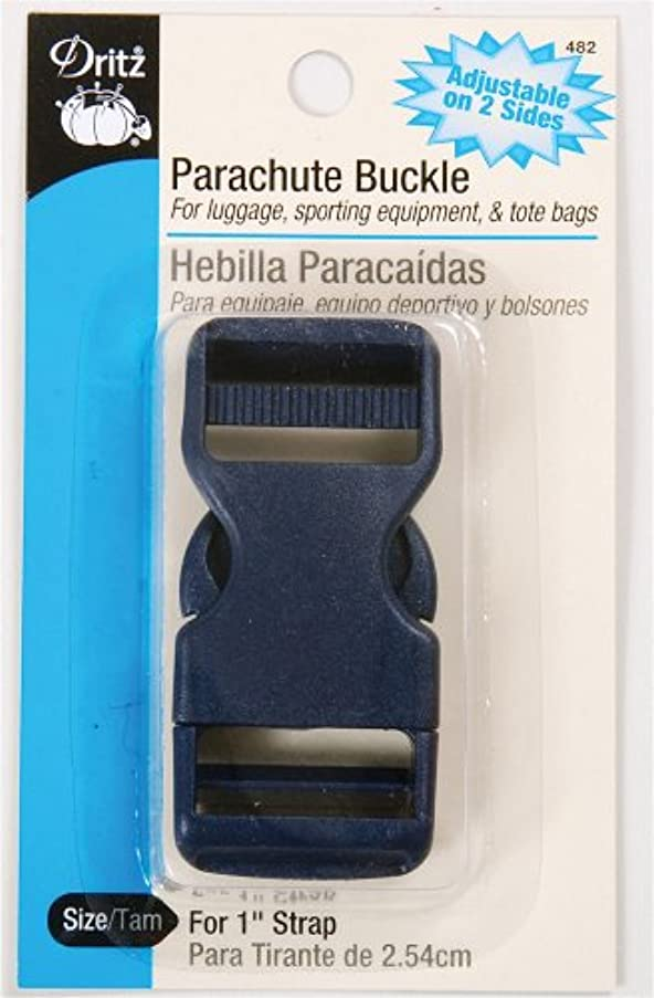 Dritz 482 Dual Adjustable Parachute Buckle for 1-Inch Strap, Navy