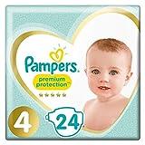 Pampers Premium Protection - Pañales de protección (talla 4, 8 a 16 kg/máximo)