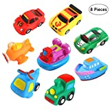 Bebester Schwimmendes Badespielzeug, Baby-Spritzspielzeug, Badeschiff-Spielzeug, Kinder-Badewanne, Schwimmbad, Gummischwimmer, Quietschspielzeug, Wasserspiel, Lernspielzeug für Kinder und Kleinkinder