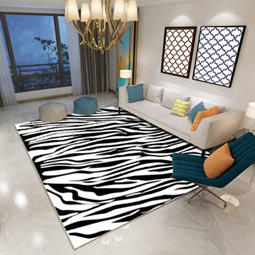Teppich Schlafzimmer Nacht Teppiche Moderne Persönlichkeit Zebra Muster Simulation Baby Samt Couchtisch Saugfähigen Rutschfesten Bodenmatte Dekoration 140 Cm * 200 Cm