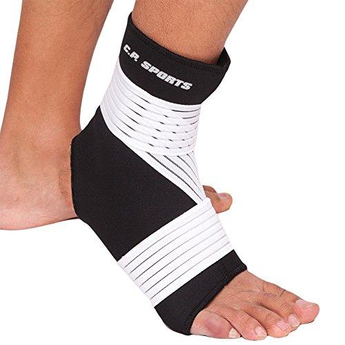 CP Sports Neopren-Fußgelenk-Bandage Strong S = 22cm - 25cm - Fuss-Bandage, Ankle Support, Gelenk-Stützbandage - Sport, Fitness & Alltag