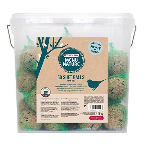 VERSELE LAGA Boules de Graisse pour Oiseaux de la Nature Menu Nature - Seau DE 50 Boules DE 90 g avec Filet