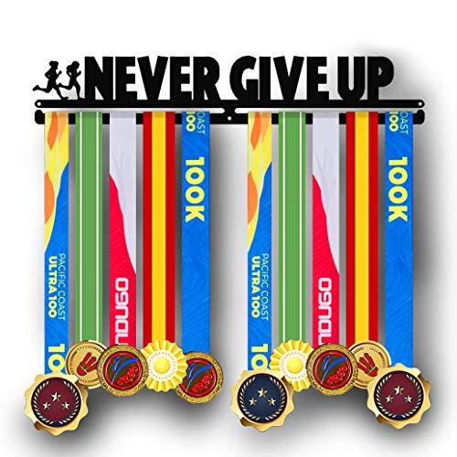SeeMees Medaillenaufhänger, Auszeichnungshalter, Ausstellungsständer für 60 Medaillen, für alle Sportarten, schwarzer Stahl, Medaillenhalter für Rennen
