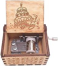 صندوق موسيقى خشبي من فويامب، صندوق موسيقى بذراع يدوية خشبي عتيق منقوش بشروق الشمس، هدايا يدوية لعيد الميلاد والكريسماس وعي...