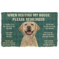玄関マット 屋外 ラブラドールレトリバー犬の家のルールドアマット新築祝いのギフトパーソナライズされたラグホームルームの装飾40x60cmを覚えておいてください