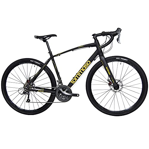 Tommaso Sterrata Shimano Claris R2000 Gravel Adventure Bike with Disc Brakes, Extra Wide Tires, and...
