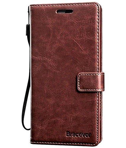 Bracevor Premium Leather Case Inner TPU, Wallet Stand, Flip Cover for Lenovo Vibe K4 Note - Executive Brown