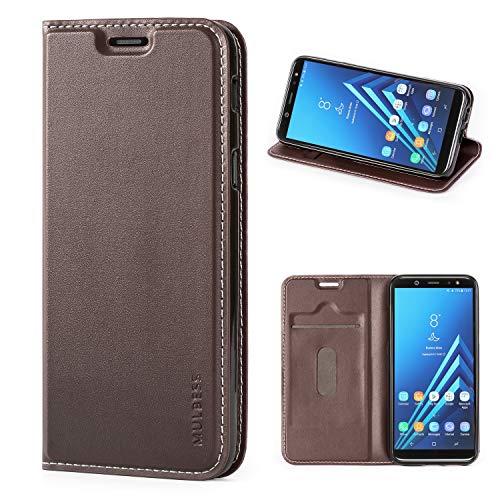 Mulbess Funda Samsung Galaxy A6 2018 [Libro Caso Cubierta] [Slim de Billetera Cuero] con Tapa Magnética Carcasa para Samsung Galaxy A6 2018 Case, Vintage Marrón