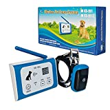 Vogue Wireless Dog Training Collar 2 Dogs Upgraded 500m/600Yard Remote Rechargeable Waterproof Electric Shock Collar Electric Dog Fence 2 Shock Collars Waterproof Hidden System Pet Fence System