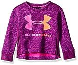 Under Armour Baby Girls Long Sleeve Graphic Tee, Purple Plush Big Logo Crew Neck, 24M