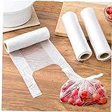 100pcs / Rollo 28 * 17cm De Sólo Mango Transparente Paquete Bolso Bolsas De Embalaje Reciclable Compra De Alimentos Carrier para El Supermercado Bolsas De La Compra