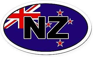CafePress New Zealand (NZ) Flag Oval Car Magnet Oval Car Magnet, Euro Oval Magnetic Bumper Sticker