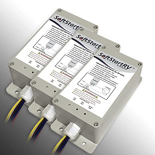 SoftStartRV SSRV3T by NetworkRV Enables An RV Air Conditioner To Start And Run On A Small Generator, Or Limited Power, When It Would Otherwise Not Have Started + Bonus Gift - 3 Pack