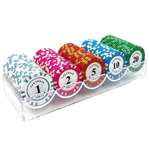 Shuihu Portable Casino Clay Poker Chips Set, Clay Embedded Iron Sheet...