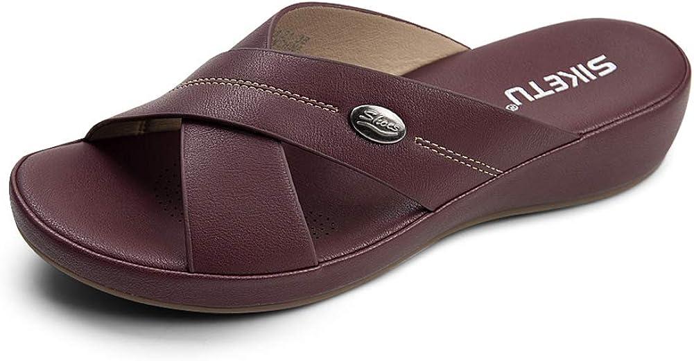 Women's Wedge Sandals Comfortable Popular brand Popular Soft Shoes Su Leather Platform