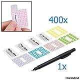 Etiketten für Lippenbalsam-Tuben / Vorteilspack mit 400 Aufklebern (oder zu anderen Zwecken) - 200...