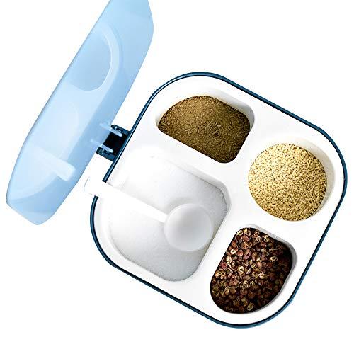 Juego de recipientes de plástico para almacenamiento de alimentos secos de cocina, con caja de condimento de plástico para camping, para almacenamiento de condimentos de cocina