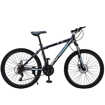 GFHFHITJ Junior Aluminum Full Mountain Bike - Stone Mountain 26 Inch 21-Speed ??Bicycle - Mens/Womens Hybrid Road Bike (Blue)
