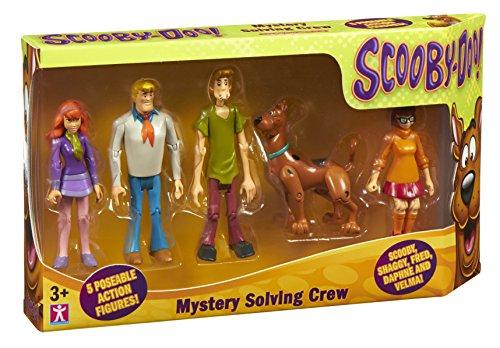 Scooby Doo - Set di Figurine della Banda risolvi misteri, 5 pz.