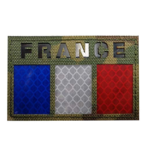IR Frankrijk vlag patch infrarood reflecterende motorfiets biker tactische militaire badge armband embleem voor reizen rugzak hoeden jassen team uniform paintball airsoft vest Camo-CP