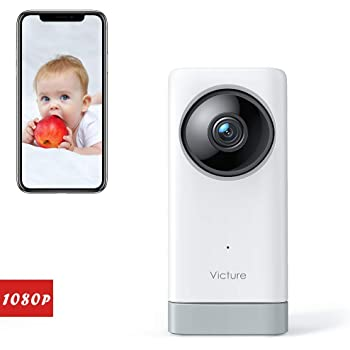 Victure 1080P FHD Baby Monitor Pet Camera 2.4G Indoor Home Security Camera with Motion Tracking Sound Detection, 2-Way Audio Compatible with iOS & Android System