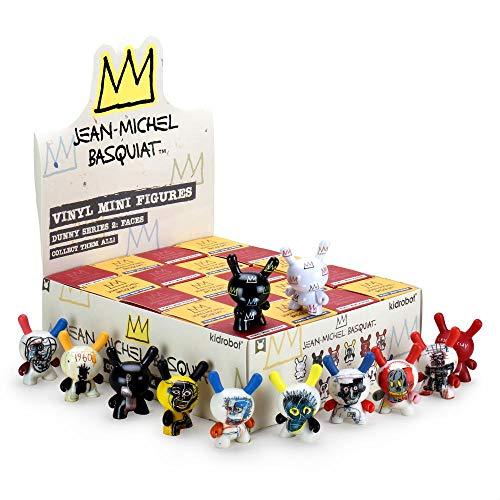 Kidrobot x Jean-Michel Basquiat Vinyl Mini Figure Dunny Series 2: Faces 3-Inch Mystery Pack (Multicoloured)