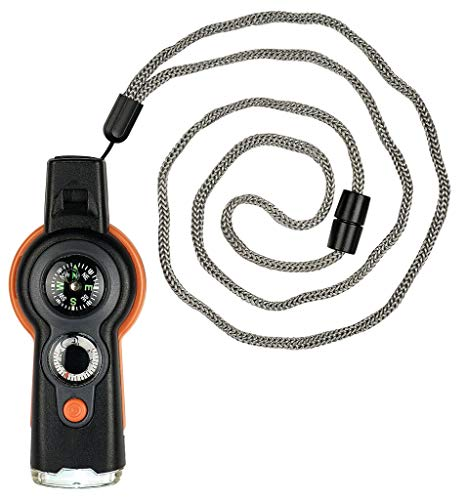 moses. Unisex Jugend Survival-Tool, Schwarz-Orange, handlich