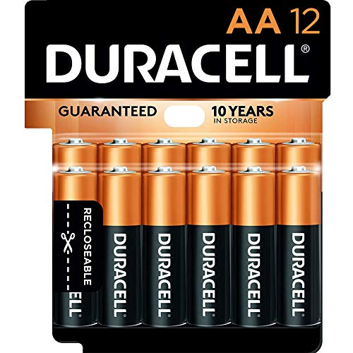 Duracell - CopperTop AA Alkaline Batteries - long lasting, all-purpose Double A battery for household and business - 12 Count