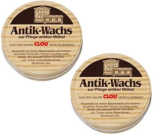Clou Antik Wachs Möbelwachs: aus natürlichen Bienenwachs farblos 2x 200ml