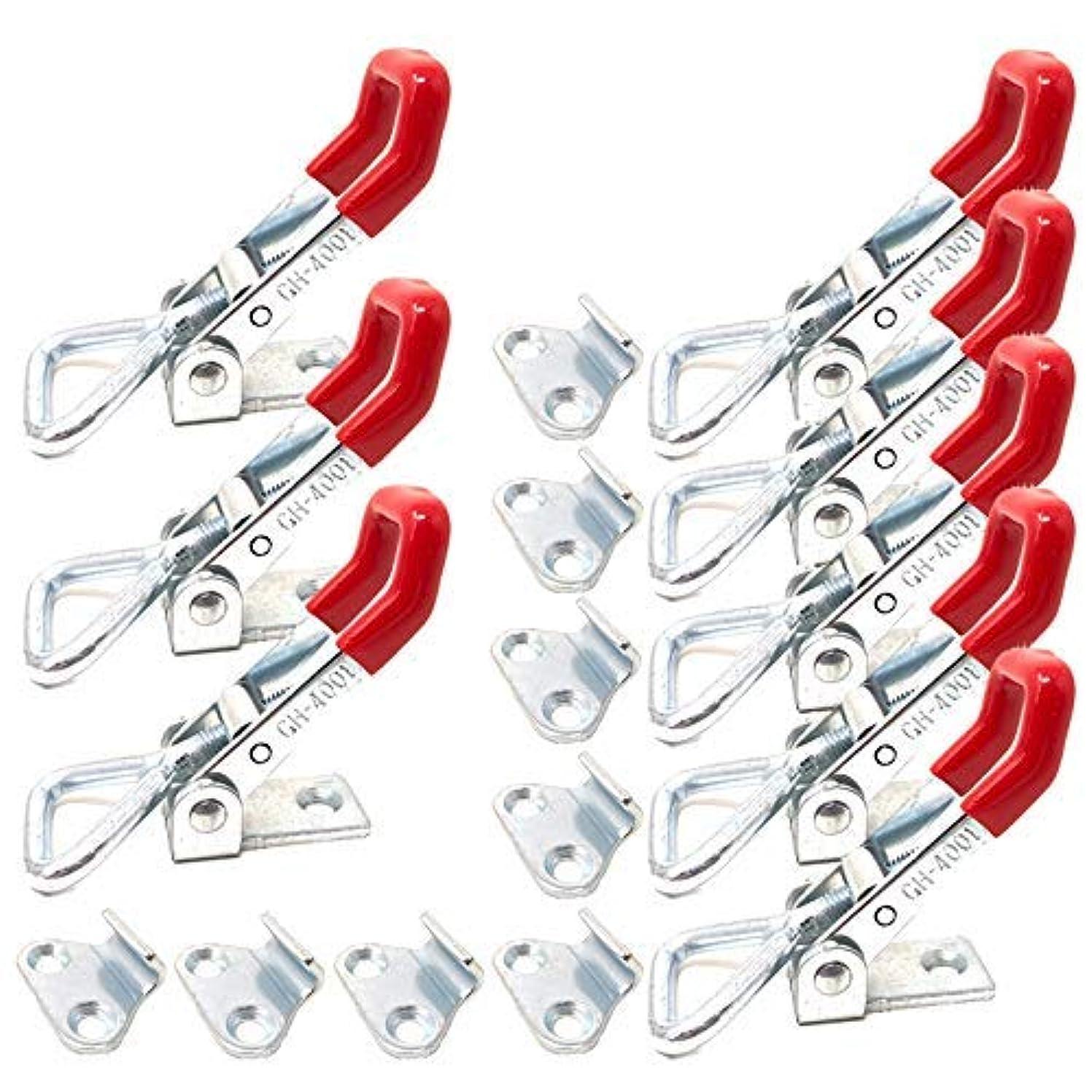 優れたクールマーティフィールディング8PCS Toggle Clamp 4001 Heavy Duty Hand Tool Quick Release Metal Holding Capacity Latch Type 220 Lbs [並行輸入品]