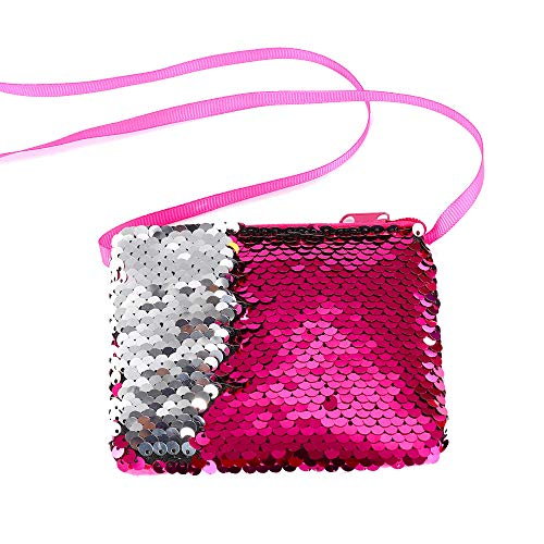 Women Girls Fashion Double Color Sequins Bag Storage Bag Ladies Purse Pouch, Housekeeping & Organizers, for Christmas Day (HOT)