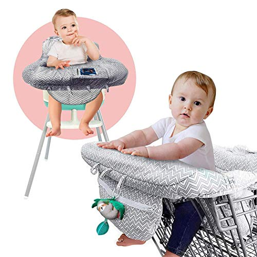 Review Of Leoneva 1pc Practical Print Soft with Seat Belt Baby Shopping Cart Cover Edge Cover Chair Pads 30 x 20 x 5cm