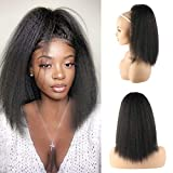 LEOSA 14 inches Natural Black Yaki Straight Drawstring Ponytail Short Hair for Women Ponytail Synthetic Hair Extensions